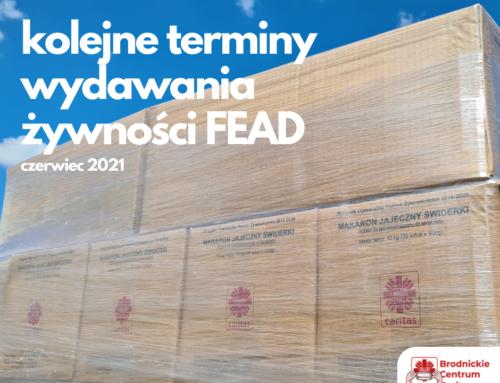 Wydawanie żywności w ramach programu FEAD – czerwiec 2021