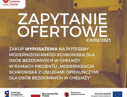 Zapytanie ofertowe – wyposażenie schroniska w Chełmży
